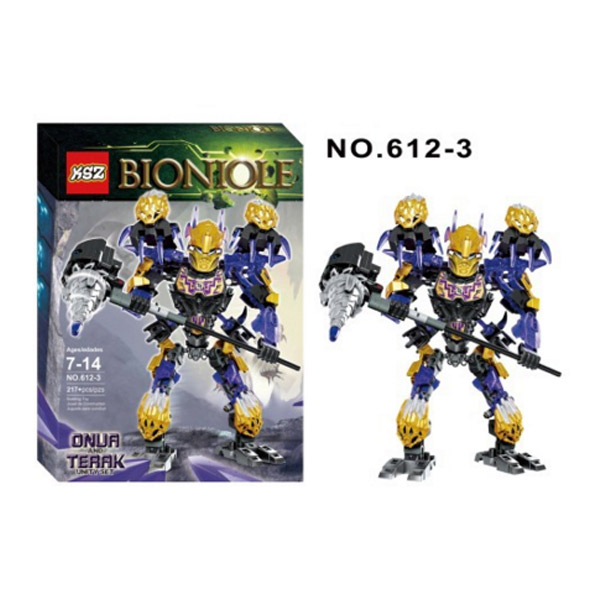 XSZ 612 3 Biochemical Warrior BionicleMask of Light Bionicle Onua Terak Bricks Building font b Block