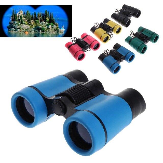 4x30 Plastic Children Binoculars Telescope For Kids Outdoor Games Toys Compact New