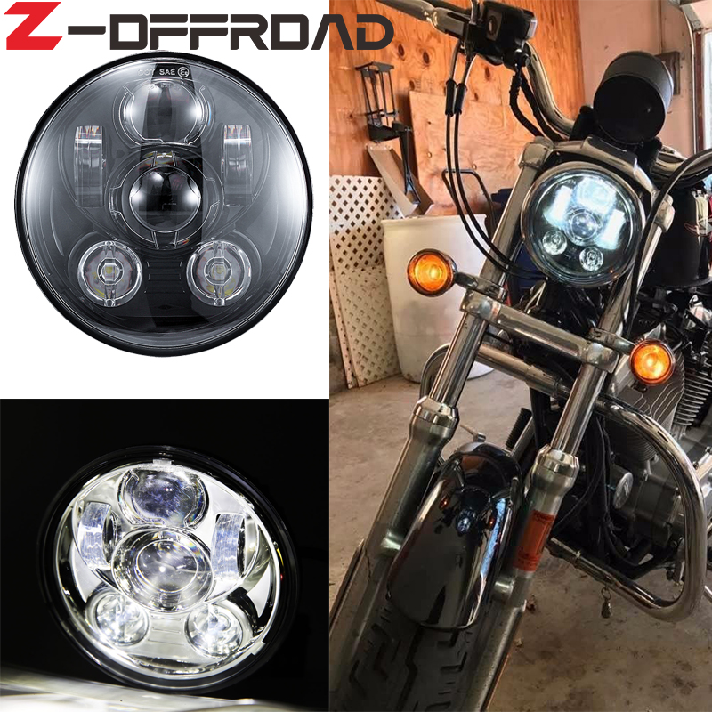 New Motor Accessories 5.75 motorcycle headlight 5 3/4 led head light 5 3/4 Motorcycle Black Projector light for Motorcycle