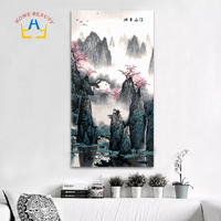 40 80cm Large Oil Painting By Numbers Coloring Drawing Wall Decor Picture Paint By Number Chinese