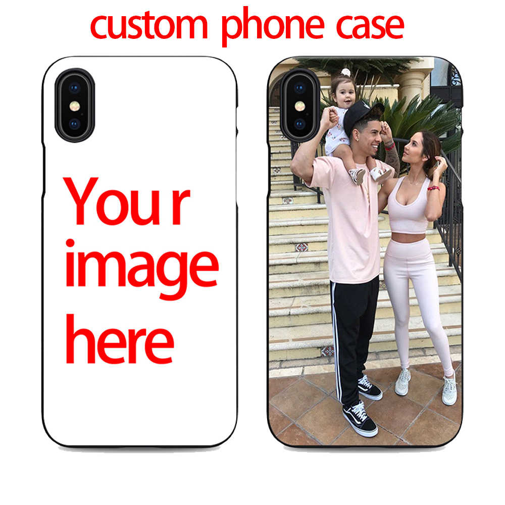 ace family make my own cell phone case you custom for iPhone X XR XS MAX 6 7 8 plus 5 6s design your own black photo cheap cover