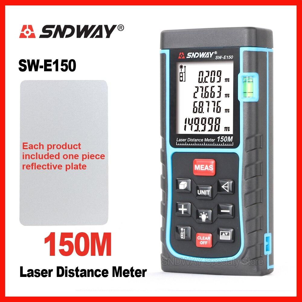 SNDWAY Laser Digitale Tester di Distanza del Telemetro Range Finder SW-120 SW-150 120 m 150 m Nastro Trena Righello Tester Strumento Mano casa