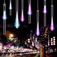 8 tüpler ab us fiş çok renkli 50 cm meteor duş yağmur tüpler Noel Düğün Bahçe Açık Dize Dekor için LED Işıkları işık