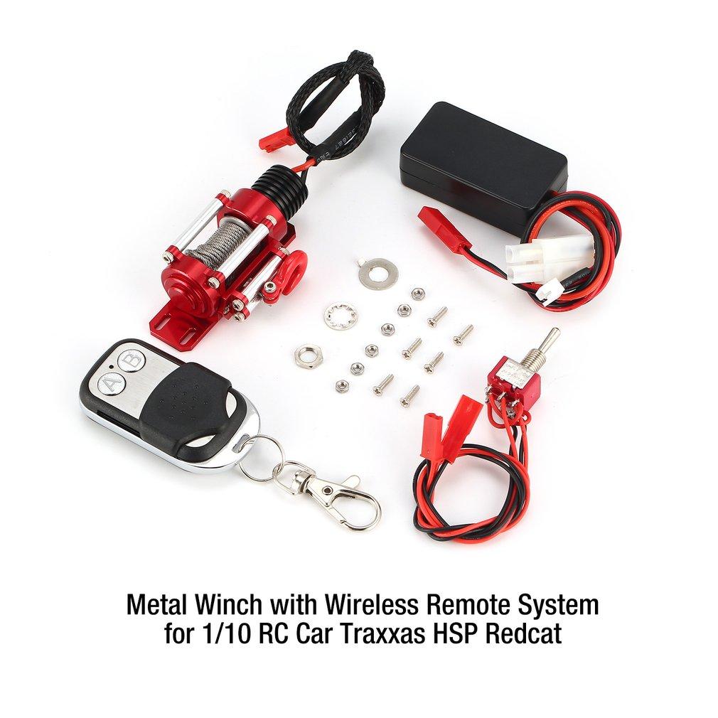 Metal de acero cabrestante sistema con control remoto controlador receptor parte 1/10 Traxxas HSP Redcat HPI TAMIYA CC01 coche RC Crawler