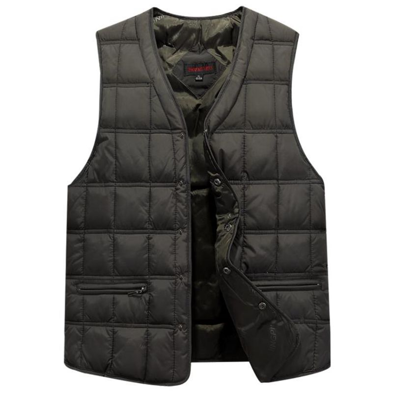 Winter Dresses Men White Duck Down Causal Vest Ultra Light Male Thick Sleeveless Down Jacket Men Warm Vest S 4XL Plus Size in Vests amp Waistcoats from Men 39 s Clothing