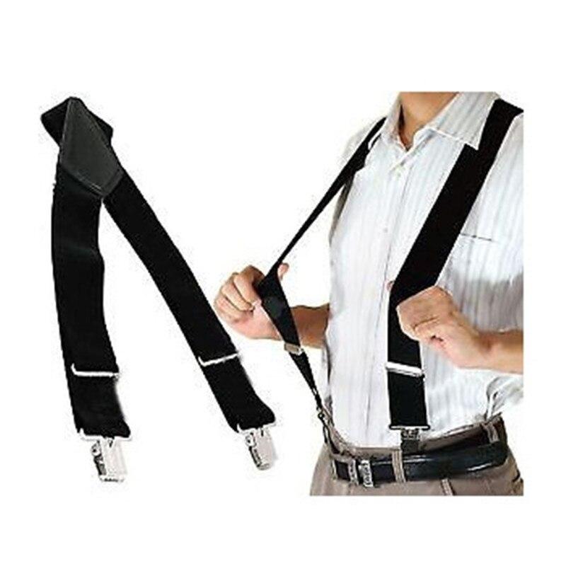 BD058-Hot Sale Men suspenders strong 4 clips Suspender 5cm Width Leather suspenders plus size Braces