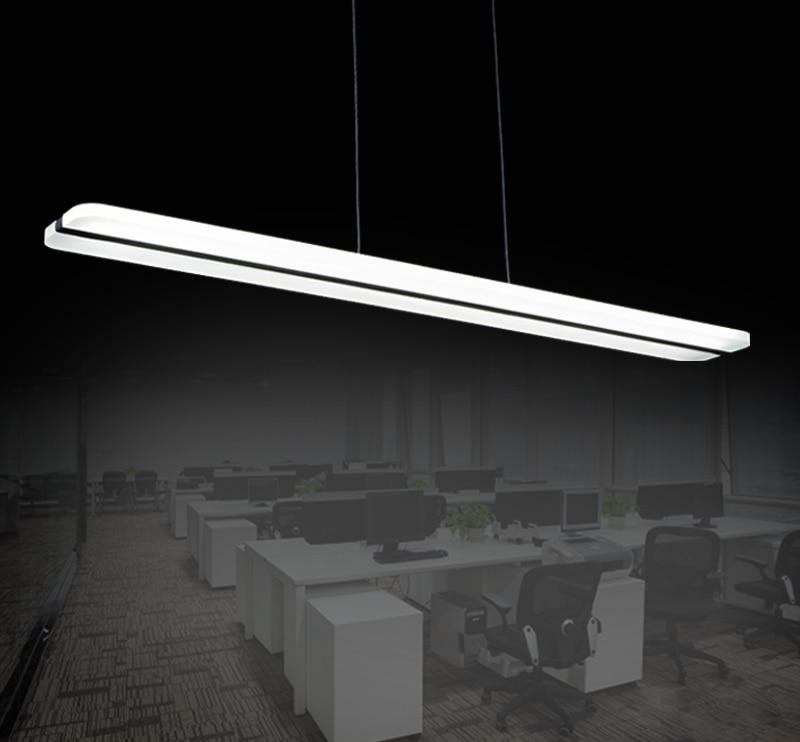 Modern Copper Ring Led Pendant Lighting 10758 Shipping: Minimumism Long LED Pendant Light Modern Linear Hanging