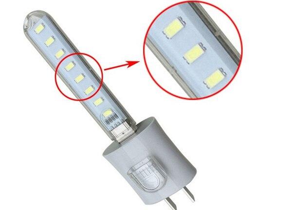 New Arrival Mini USB 3W SMD5730 White/Warm White Mobile Power Lamp Camping 8 LED Night Light DC5V