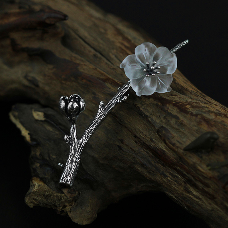 Lotus Fun Real 925 Sterling Silver Natural Quartz Designer Handmade Fine Jewelry Flower in the Rain Design Women Brooches Pin lonely silver rain the