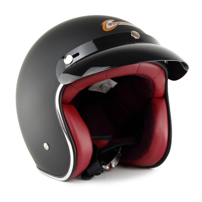Motorcycle Half Open Face Retro Helmets Men Women Casco Vintage Scooter Jet Helmet for riding free shipping все цены