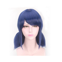 2018 Coshome Miraculous Ladybug Wigs Peluca Marinette Girls Women Cosplay Double Ponytail Braids Short Straight Wig