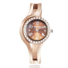 Creative fashion watches rose gold bangle lady round table personalized watches tide version
