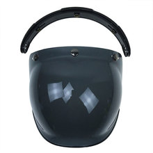 Motorcycle Motorbike Flip Down Retro Helmet Visor Bubble Shield Lens Base