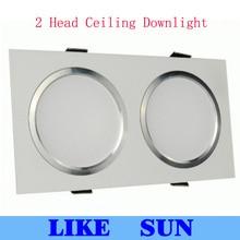 Высокая мощность 2 головки СВЕТОДИОДНЫЕ квадратные потолочные светильники 2x5 Вт 2x7 Вт 2x9 Вт 2x12 Вт 2x15 Вт 2x18 Вт 2x20 Вт 2x25 Вт светодиодный точечный светильник на потолок
