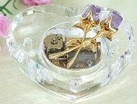 30 ноты Хрустальная роза Music Box музыкальная шкатулка в форме сердца День святого Валентина свадебные подарки сувенир