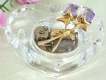 30 notes crystal rose music box heart shape music box valentine's day gifts wedding souvenir