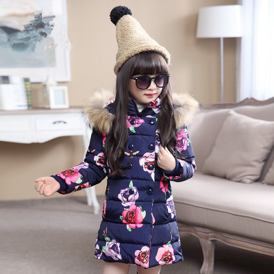 Image 2 - Winter Thicken Warm Kids Coat Children Outerwear Cotton Filler Heavyweight Girls Jackets Outfits For 4 12 Years Old-in Down & Parkas from Mother & Kids