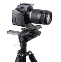 DSLR Rig Metal Two way Adjustment Camera Tripod Head Fits for Lens Reverse Macro Photography Accessories
