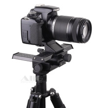 DSLR Rig Metal Two-way Adjustment Camera Tripod Head Fits for Lens Reverse Macro Photography Accessories