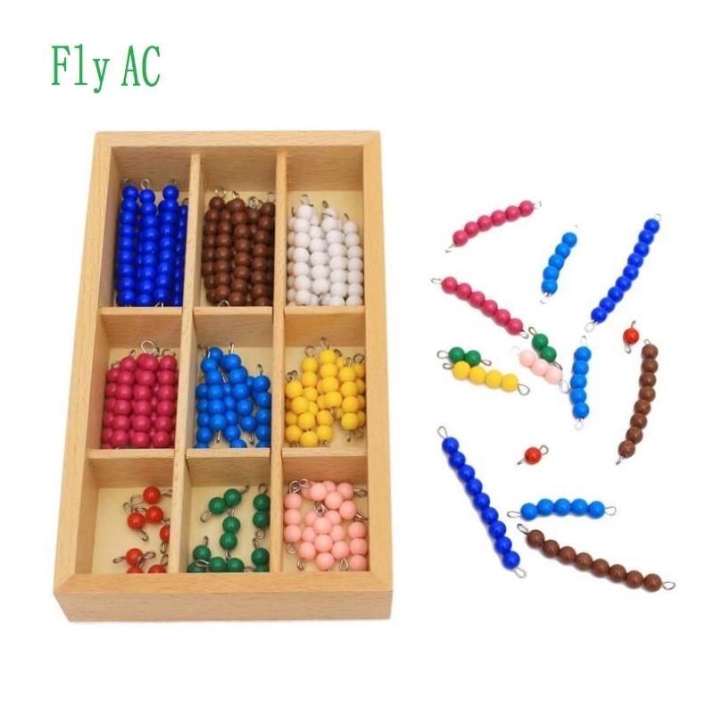 Fly AC Montessori matematyka pomoce nauczycielskie zabawki dla dzieci kolor/czarny i biały koraliki zabawki dla dzieci praktyki rozwoju zabawki