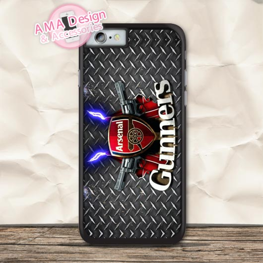 Gunners Football Fans Clubhouse Protective Case For iPhone X 8 7 6 6s Plus 5 5s SE 5c 4  ...