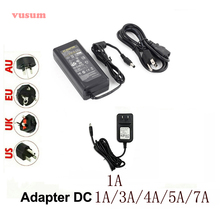 24V Power Adapter LED Strip Light LED Driver AC110V-240V 24V DC 1A 3A 4A 5A 7A 5050 3528 LED with Light