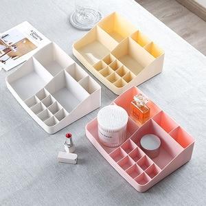 Image 2 - Makeup Organizer Cosmetics Plastic Storage Box Creative Skin Care Products Multi function Jewelry Desktop Dressing Organizador