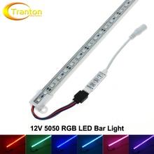 5050 RGB LED Bar Light DC12V Waterproof 50cm 36 LED Aluminum Rigid LED Strip + Mini DC RGB controller.