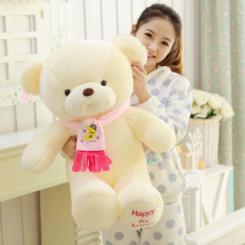 Купить с кэшбэком Genuine hug teddy bear urso de pelucia plush toys Children Ai Taidi Scarf Scarf Bear Teddy Bear Gift Plush dolls Brinquedos