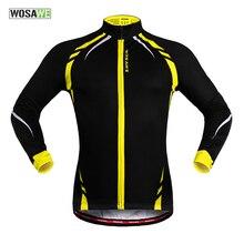 цена на WOSAWE Men Winter Thermal Fleece Cycling Jersey Outdoor Sports Windproof MTB Bike Bicycle Clothing Running Jacket Wind Coat