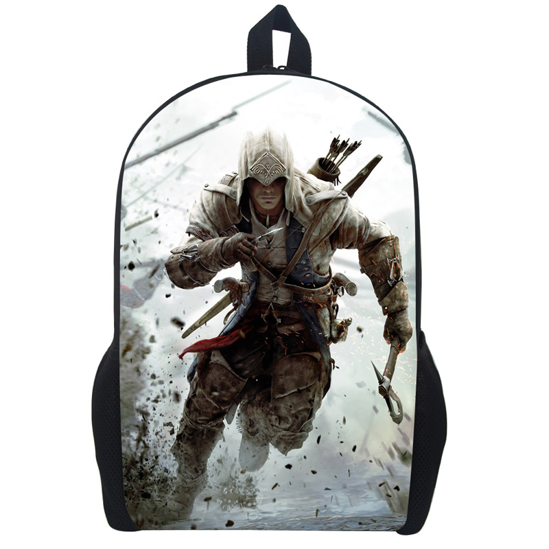 купить Assassin's Creed Backpack For Teenagers Children School Bags Boys Assassins Creed School Backpacks Men Daily Bag Women Backpack онлайн