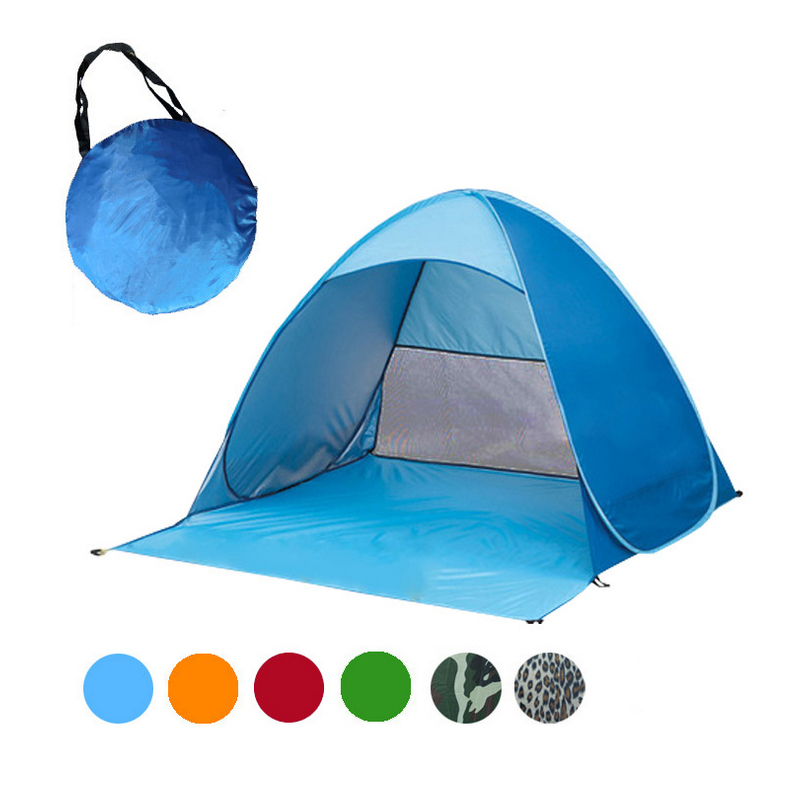 2-3 Persons fishing tent Outdoor camping hiking beach summer tent UV protection fully sun shade Quick Automatic Opening Hot Sale пляж на самуи