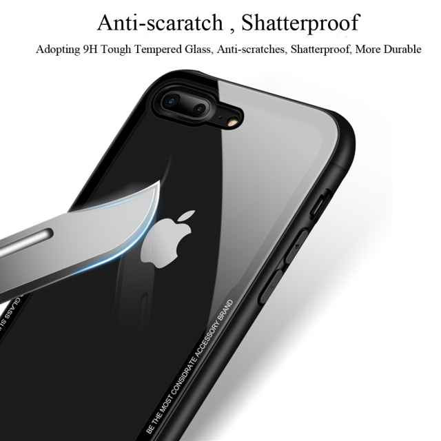 Tempered Glass Protective Phone Case – Apple iPhone