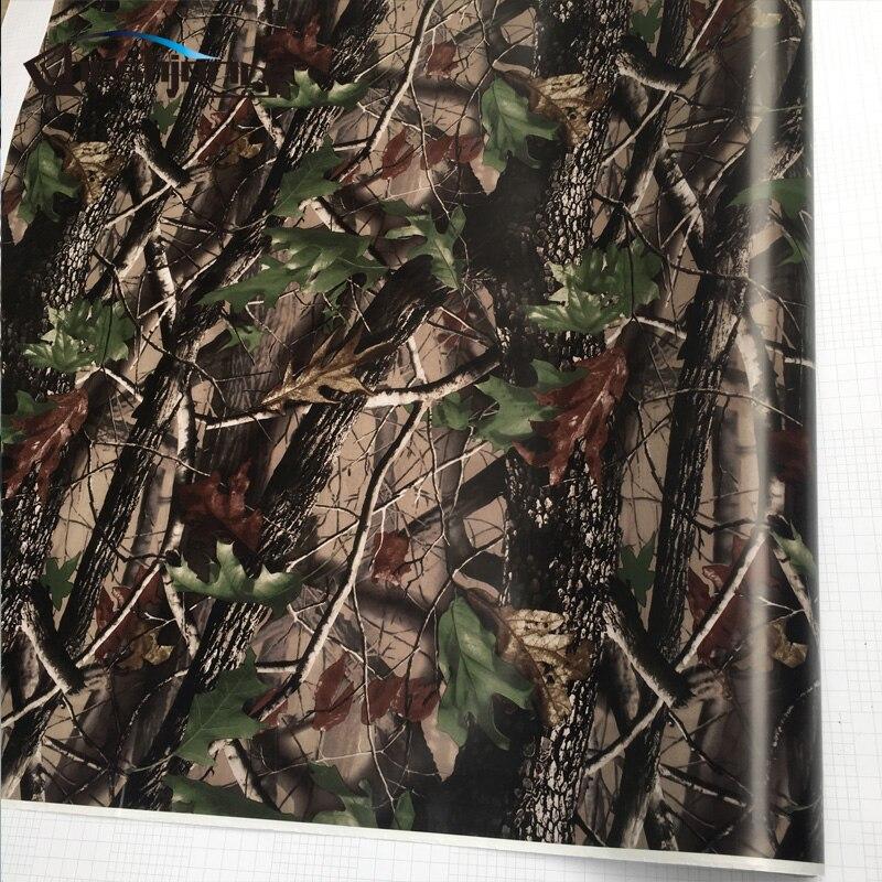 Brechen Echt Camo Baum Vinyl Auto Wrap PVC Klebstoff Echten Baum Camouflage Film Für Lkw Haube Dach Motoren Gunskin aufkleber 30 cm 60 cm