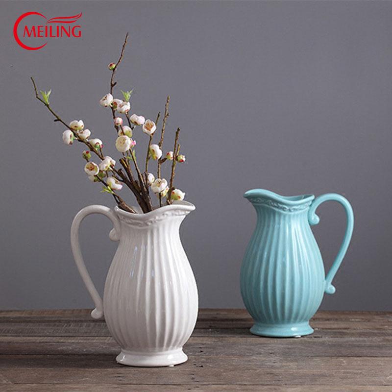 centros de mesa moderno chino jarrones decorativos en casa de decoracin de gran jarrn de porcelana blanca tetera creativo dise