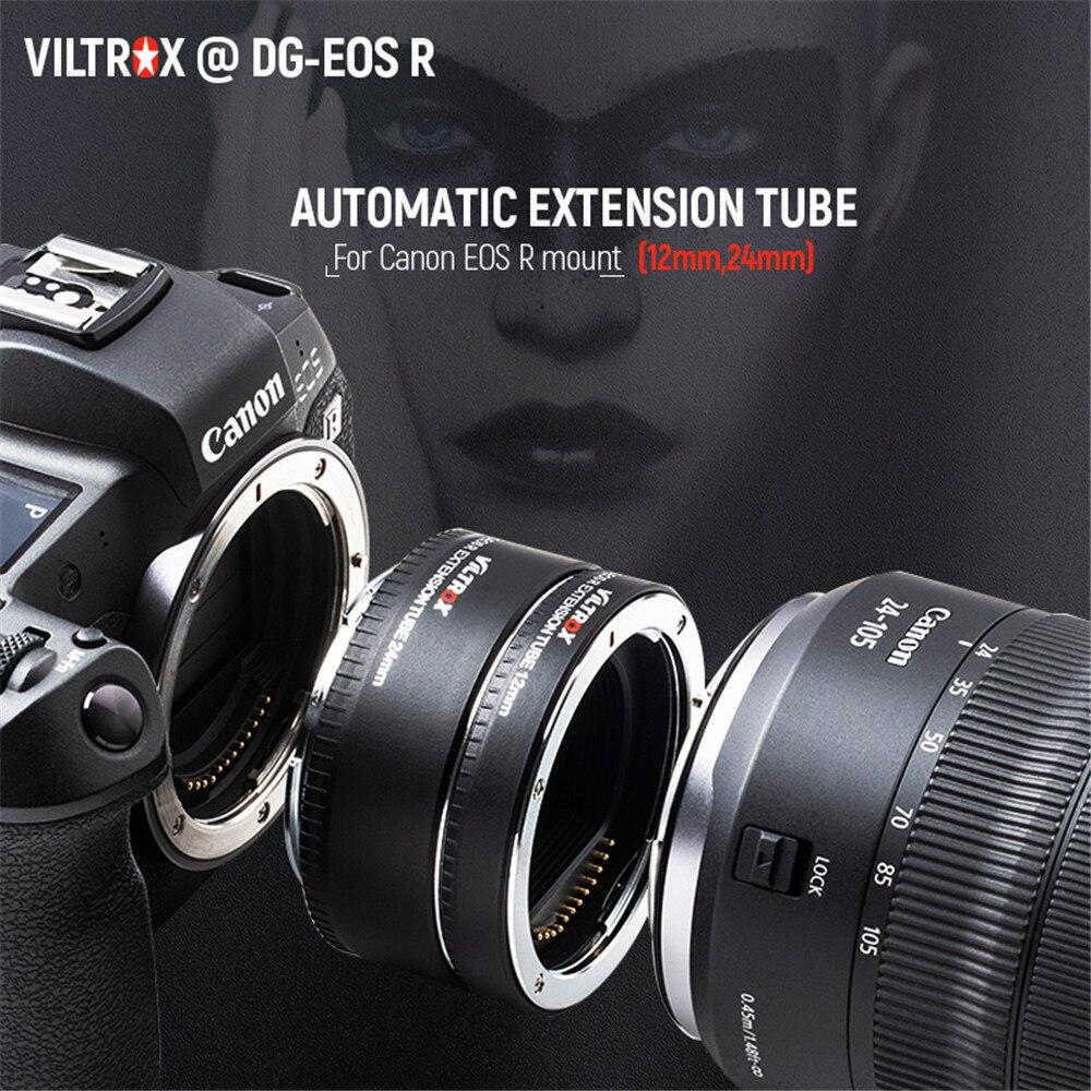 Adaptateur d'objectif de Tube d'extension Macro à mise au point automatique Viltrox DG-EOS R pour appareil photo Canon EOS R RP