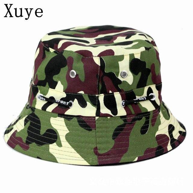 Xuye homem pesca headwear camuflagem das mulheres balde chapéus de verão  cap boné de beisebol dos d167379b63b