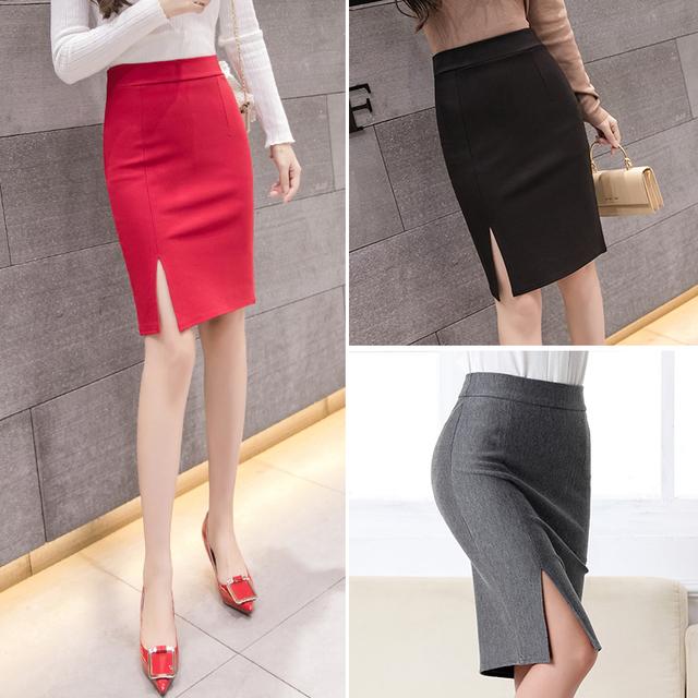 Summer Autumn Slim Pencil Skirt