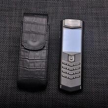 Étui Vertical en cuir véritable peau de Crocodile pour téléphone rétro de luxe Vertu 100% parfait pour Deluxe Signature S pdg 168 boucheron