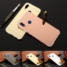 For Huawei P Smart 2019 Case Luxury Rose Gold Mirror Protective Back Cover Phone Pot-lx1 Pot-lx3