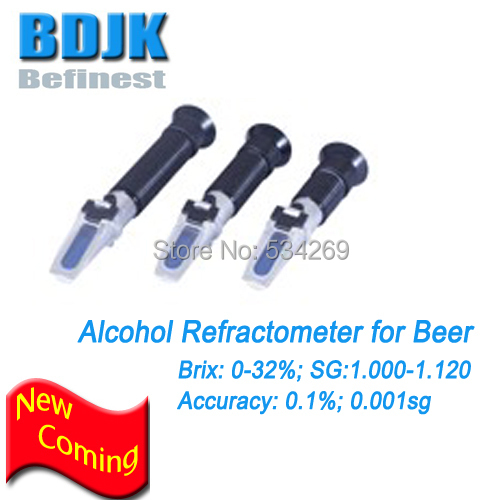 0~32% Pen Type Beer Concentration Meters Alcohol Refractometer with Gift Box