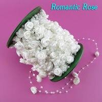 30 m/roll Novo Material De Decoração de Casamento Hochzeit Dekoration 12 Cores Rose & Pearl Contas Na Linha Para Atacadistas de noivado