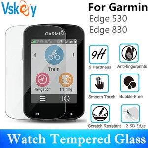 Image 4 - VSKEY 50 sztuk szkło hartowane dla Garmin Edge 830 820 530 520 130 1030 1000 ochraniacz ekranu GPS folia ochronna