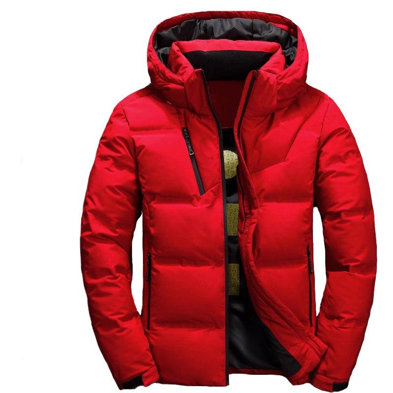 Men Down Coat Piumino Uomo Inverno 3 Color Doudoune Jacket Men Hooded Windproof Outerwear Casual White Down Coats