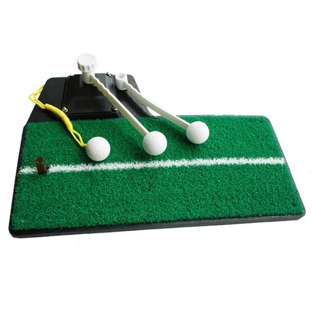 Multi-use Golf Practice Swing Mat with Tee - Green 30x300cm wood indoor golf putting trainer professional practice set training mat mini golf putter green with fairway free ball