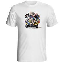 Goku And His Friends Happy Life T Shirt Casual Novelty Creative Design Short Sleeve Print T-shirt Fashion Pop Anime Unisex Tee