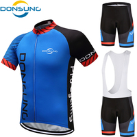 DONSUNG Cycling Sets 2017 Short Sleeve Breathable Pro Team Cycling Jersey Sets For Men Summer Outdoor