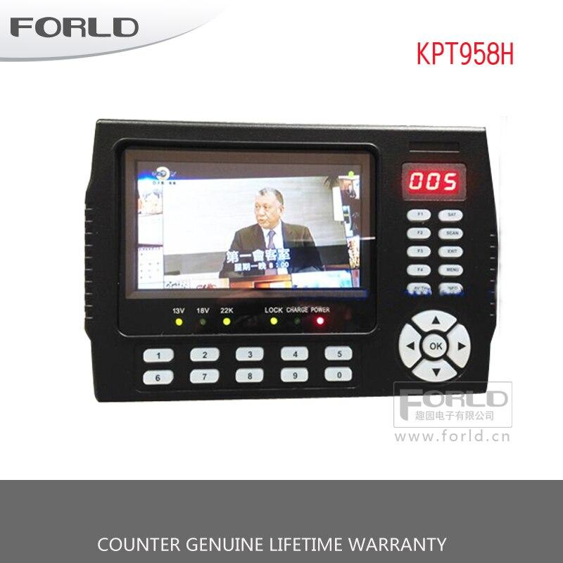 2018 Новый Kangput KPT 958H 4,3 дюймов DVB S/S2 ТВ приемник СБ метр Портативный многофункциональный HD спутниковый Finder Монитор MPGE4