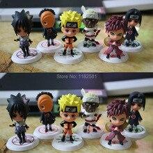 Japanese Cartoon Anime Naruto Figure Juguetes Brinquedos Model Doll Kids Toys Hokage Ninjia Cute Action Figure PVC Toys Set