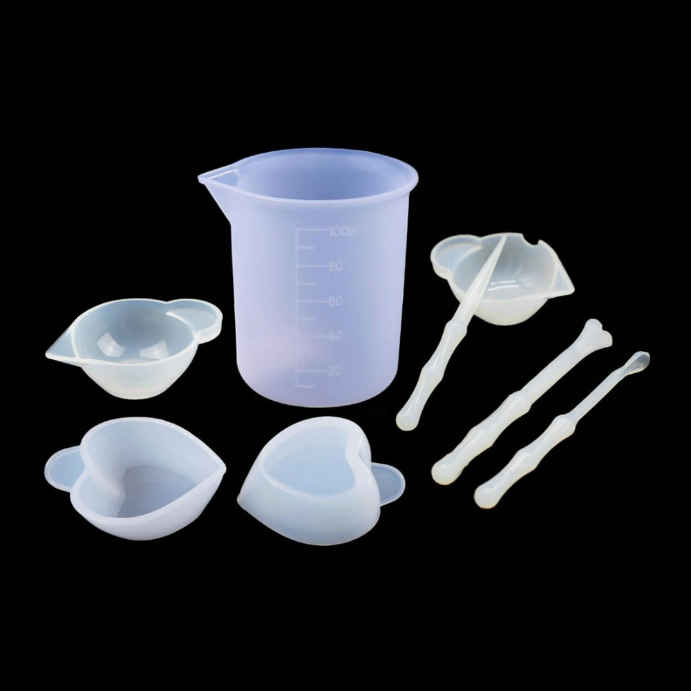 Epoxy Mixing With Silicone Measuring Cup Coloring Cup Dispensing Cup Reusable SM
